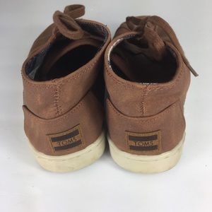 Toms Shoes - Toms Youth Size 3 Brown Lace Up Sneakers Shoes